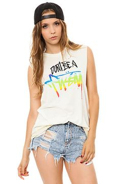 UNIF Tee Don't Be in White