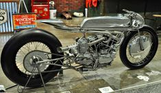 Life at Sonic Speed: the Hazan Motorworks supercharged ironhead in the Workshop Hero booth