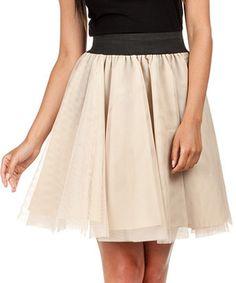 Loving this Beige Ballerina Skirt on #zulily! #zulilyfinds