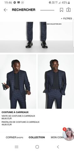 Pantalon Costume, Zara, Single Breasted, Suit Jacket, Costumes, Collection, Suits, Jackets, Fashion