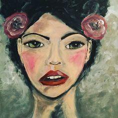 Acrylic portrait by Lisa Lieber