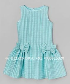 Loving this ValMax Aqua Check Bow Dress - Girls onGirls Lace Dress - Free WorldWide Shipping Gender: Girls Dresses Length: Knee-Length Silhouette: A-Line Collar: O-neck Sleeve Length: Half Decoration: Bow PattI want the pattern Frocks For Girls, Little Dresses, Little Girl Dresses, Girls Dresses, Girls Frock Design, Baby Dress Design, Baby Frocks Designs, Kids Frocks Design, Baby Girl Dress Patterns