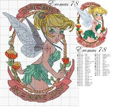 Tinkerbell Pin Up cross stitch pattern - this series is amazing!!: