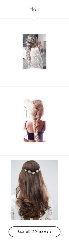 """""""Hair"""" by florales1186 ❤ liked on Polyvore featuring hair, braids, hairstyles, accessories, hair accessories, cabelo, clear, asos hair accessories, asos and crown hair accessories"""