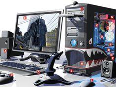 pc gamer, high end, como montar, peças, monitor, desktop, gabinete, full hd 4k, front end, placa de video, processador