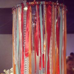 She Inspires: DIY: Ribbon Chandelier Using Quilters Hoop Diy Craft Projects, Crafts For Kids, Arts And Crafts, Diy Crafts, Diy Ribbon, Ribbon Crafts, Ribbon Chandelier, Creative Thinking, Creative Ideas