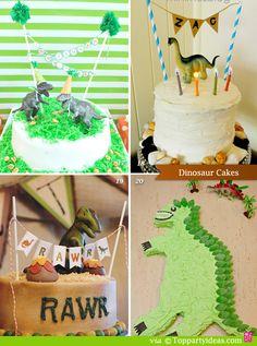 Dinosaur Party Food - cakes