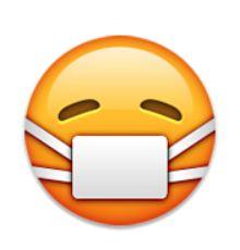 Visage Avec Un Masque Medical Emoji Anniversaire Emoji Emoticone