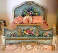 hHnd painted dollhouse miniature furniture Sold as a set $450.00 SOLD