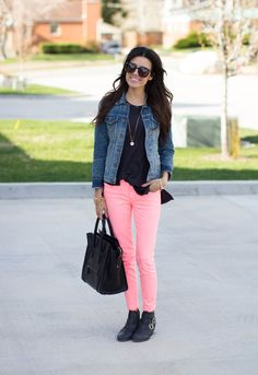 A pair of Gap jeans as featured on the blog Hello Fashion.