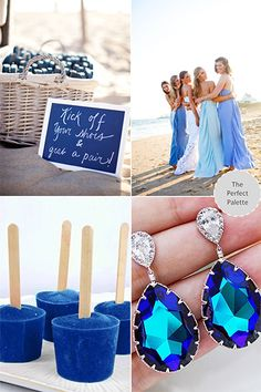 Beach blues http://www.bridalguide.com/planning/wedding-planning-basics/wedding-colors?page=0,33