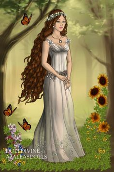Forest Of Butterflies By Trailblazr Created Using The Modified Dolls Doll Maker Dolldivine