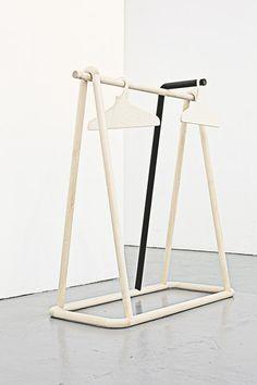 Torsten Neeland creates wooden framework for new Yohji Yamamoto collection.