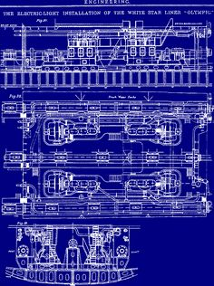 blue prints | All Things TITANIC - Blueprints I want to invent something. Who knows, it could save lives.