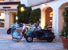 Scooters in Porto Cervo