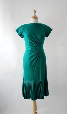 Vintage Dress / 50s Dress / Wiggle Dress / 50s by DuncanLovesTess
