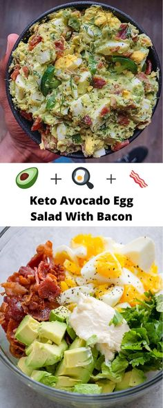 Keto Avocado Egg Salad – – You are in the right place about egg recipes brunch Here we offer you the most beautiful pictures about the egg recipes for dinner you are looking for. When you examine the Keto Avocado Egg Salad – – part … Healthy Salad Recipes, Diet Recipes, Cooking Recipes, Bacon Recipes Keto, Egg Salad Recipes, Avocado Egg Recipes, Healthy Egg Salad, Healthy Food Alternatives, Gourmet