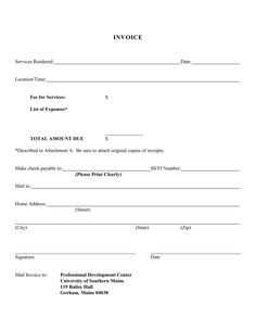 blank service invoice blank invoice template for invoice for ...