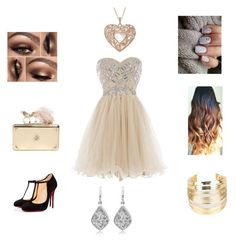 """""""Prom """" by darya-rose-bagherzadeh ❤ liked on Polyvore featuring moda, Christian Louboutin, Alexander McQueen, WithChic, women's clothing, women, female, woman, misses y juniors"""