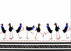 Canvas Print featuring the photograph Pukeko March by Wairua o te Moana New Zealand Art, Canvas Art, Canvas Prints, Baby Fabric, Thing 1, Kiwiana, Bird Prints, Moana, Canvas Material