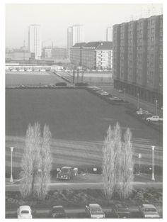 De Luchtbal, halverwege de jaren 1960, foto genomen vanaf de Groenendallaan. Op de achtergrond het Tampicoplein.