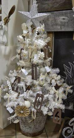 olive bucket -Christmas tree