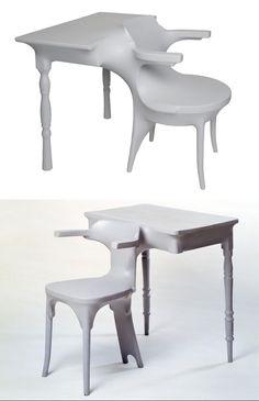 Jurgen Bey - Kokon furniture - kokon_furniture_table_chair_02.jpg (738×1144)