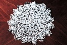 16 inch hand knitted doily by foundpiece on Etsy,: 16 inch hand knitted doily by foundpiece on Etsy,