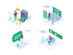 WOTIP designed by Zaib Ali. Connect with them on Dribbble; the global community for designers and creative professionals. Business Illustration, Flat Illustration, Graphic Design Illustration, Digital Illustration, Isometric Art, Isometric Design, Web Design Projects, Web Design Trends, Flat Design Icons