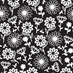 Graphic Floral Seamless Pattern Background Royalty Free Stock Vector Art Illustration