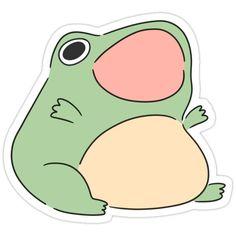 Cute Animal Drawings, Kawaii Drawings, Cute Drawings, Anime Stickers, Cool Stickers, Kawaii Stickers, Cute Cartoon, Cartoon Art, Frog Drawing