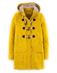 Moleskin Duffle: I like the sherpa lined hood