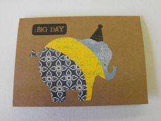 Éléphant papeterie heureux main fait cartes par ThePaperPeddler. Pinned by www.latourstudio.etsy.com