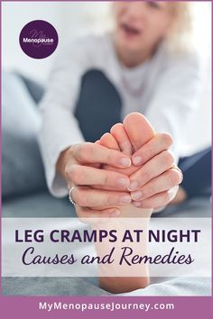 What causes leg cramps in women? | Find out the real causes and the most effective remedies to stop experiencing leg cramps or muscle cramps at night! How to get rid of leg cramps | Leg cramps at night remedies | Leg cramps causes #LegCrampsDuringMenopause #LegCrampsReliefRemedies #LegCramps #LegCrampsAtNight #LegCrampsRelief Menopause Signs, Menopause Symptoms, Leg Muscle Spasms, Leg Muscle Cramps, What Causes Leg Cramps, Hormonal Weight Gain, Leg Cramps At Night, Cramp Remedies, Hormone Replacement Therapy
