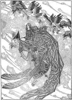 """The Garden of Paradise From """"Hans Christian Andersen Fairytales"""" 1914 Illustrated byDugald Stewart Walker"""