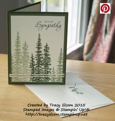 This simple sympathy card was created using the Wonderland Stamp Set from the Stampin' Up! 2015 Holiday Catalogue. http://tracyelsom.stampinup.net
