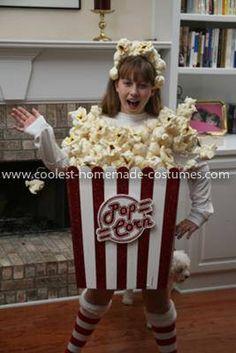 Coolest Girl's Popcorn Costume