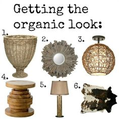Organic Inspiration Home Decor with natural fabrics, finishes, textures, and patterns from Lamps Plus.