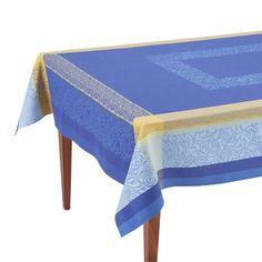Bargeme Bleu French Jacquard Tablecloth