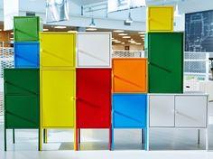 Mettre au placard mais...en couleur ! / Lixhult. / Chez Ikea. / By Tom Dixon.