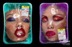online editorial, photographer SH/Sadler shows us that beauty today is all about the right packaging and labels. Best Fashion Photographers, Drag, Fresh Meat, A Level Art, Fashion Photography Inspiration, Creative Photography, Installation Art, Art Inspo, Art Direction