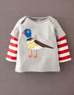 I've spotted this @BodenClothing London Appliqué T-shirt Grey Marl Bird