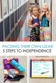 Teaching Your Child to Pack Their Own Gear *like this simple approach