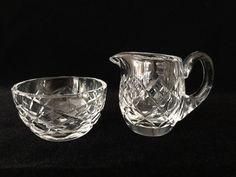 Waterford Crystal Lismore Sugar Bowl & Creamer Set #Waterford