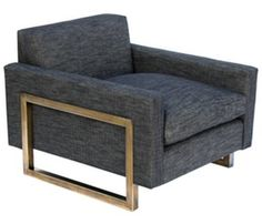 Square Chair  MidCentury  Modern, Transitional, Leather, Metal, Upholstery  Fabric, Seating by Downtown