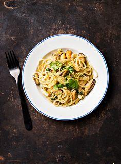 Simpukkapasta   K-Ruoka Risotto, Spaghetti, Pasta, Ethnic Recipes, Food, Essen, Meals, Yemek, Noodle