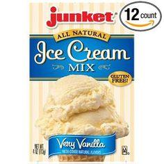 Junket Vanilla Ice Cream Mix, 4-Ounce (12 Pack)