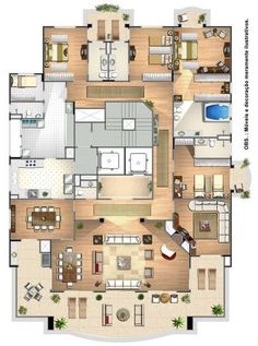House Layout Plans, Modern House Plans, Small House Plans, House Layouts, House Plans Mansion, 2 Bedroom House Plans, House Floor Plans, Building Plans, Building A House