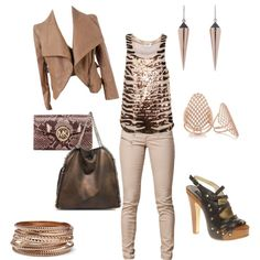Night out, created by aarion-j-wright on Polyvore