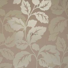 307105 lijmdruk vlies behang bladeren bruin
